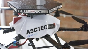 The RealSense drone is fitted with six depth-aware cameras that can sense distance and objects