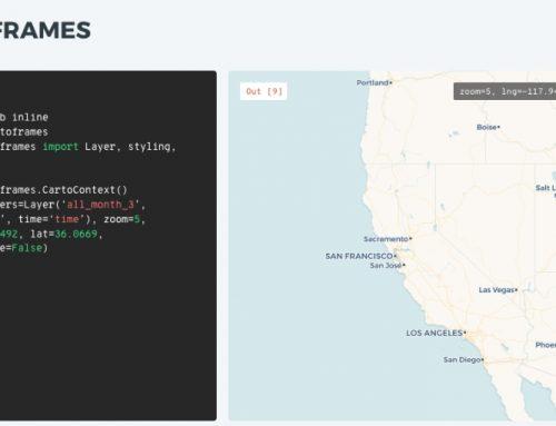 Fusión entre Carto y Python: CARTOframes