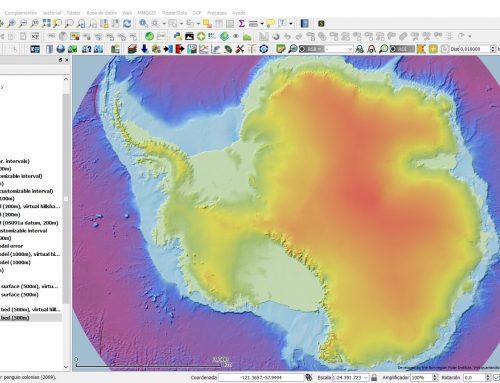 El proyecto Quantarctica (datos de la Antártida desplegados en QGIS)