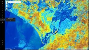 Cómo interpretar las bandas de las imágenes obtenidas por el satélite Landsat gracias a un visor cartográfico