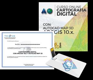 Cartografia digital con ArcGIS 10 con AutoCAD Map certificado y USB