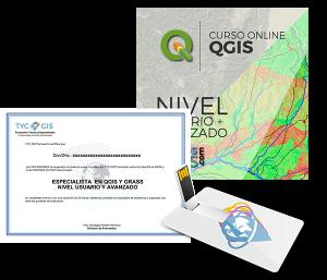 Especialista QGIS Y GRASS - Certificado y USB