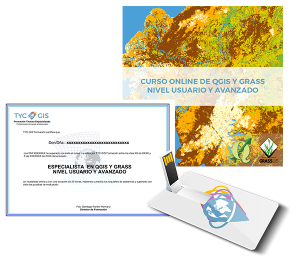 Especialista QGIS Y GRASS - Certificado y USB