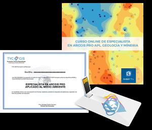 ArcGIS Pro Especialista Geología y Minería usb certificado