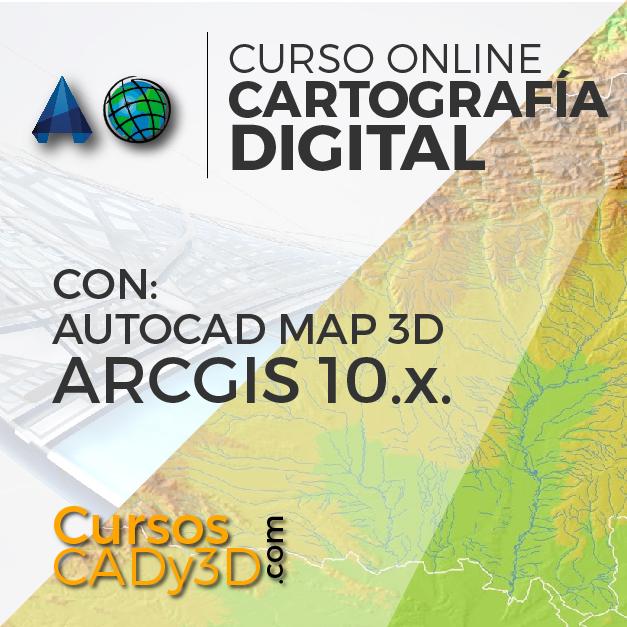 curso online AutoCAD Map y ArcGIS Cartografia
