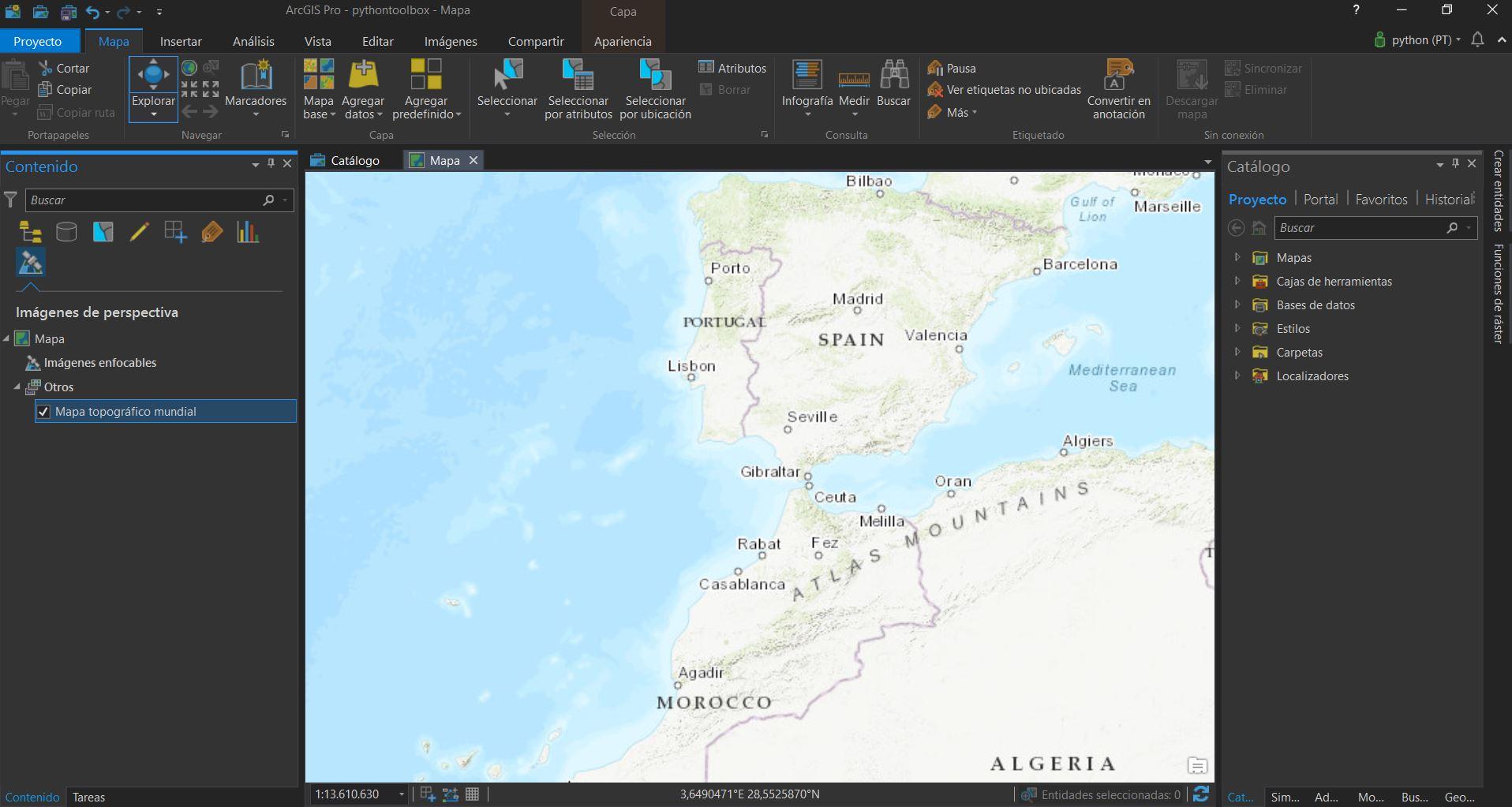 Herramientas para trabajar con Python e imágenes satélite en