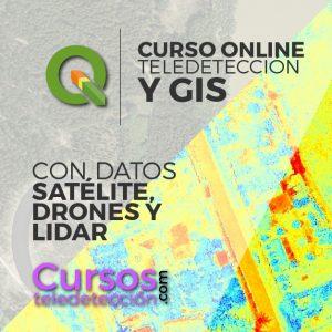Curso Online QGIS Datos Satelite drone lidar