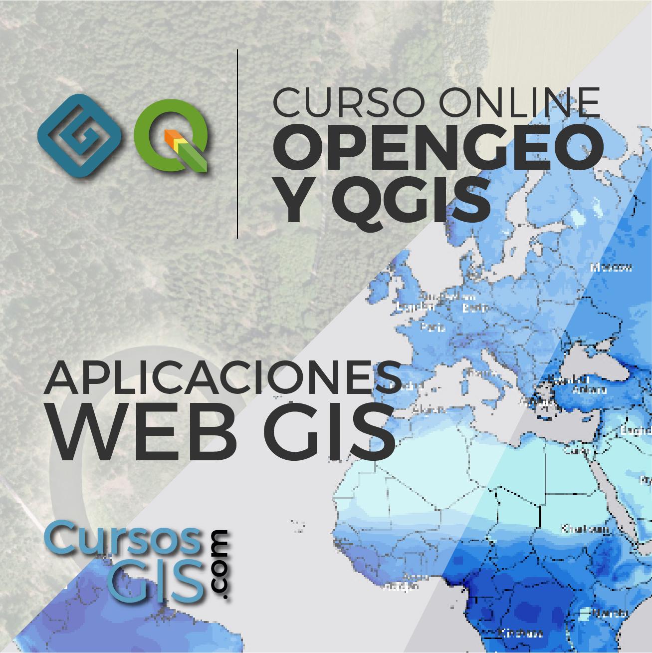 Curso Online opnegeo y qgis aplicaiocnes web