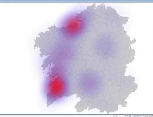 Cómo crear heatmaps o mapas de calor en GvSIG 2.4