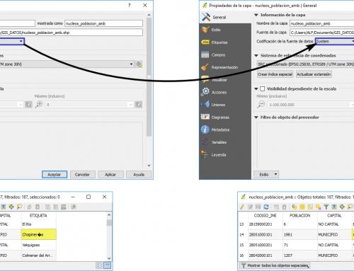 Control de la codificación de caracteres en QGIS