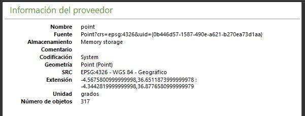 Proyección de los datos obtenidos de OSM