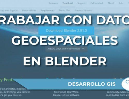 ¿Cómo trabajar con datos geoespaciales en Blender?