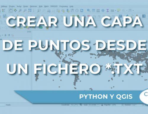 Cómo crear una capa de puntos desde un fichero *.txt con PyQGIS