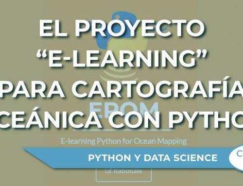 """El proyecto """"e-learning"""" para cartografía oceánica con Python"""