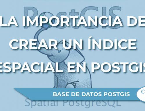 La importancia de crear un índice espacial en PostGIS