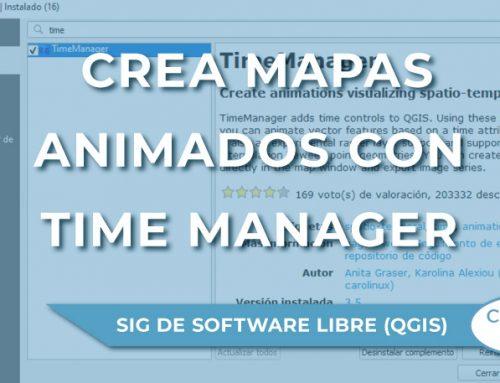Creación de mapas animados con el complemento Time Manager en QGIS