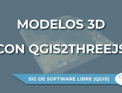Generación de modelos 3D con Qgis2threejs