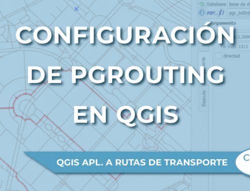 Configuración de pgRouting en QGIS