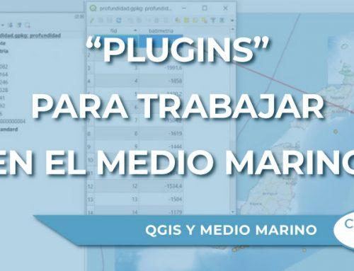 """""""Plugins"""" de QGIS para trabajar en el medio marino"""