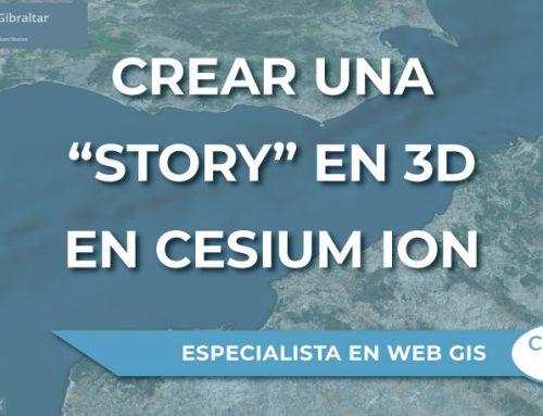"""¿Cómo crear una """"story"""" en 3D en Cesium Ion?"""