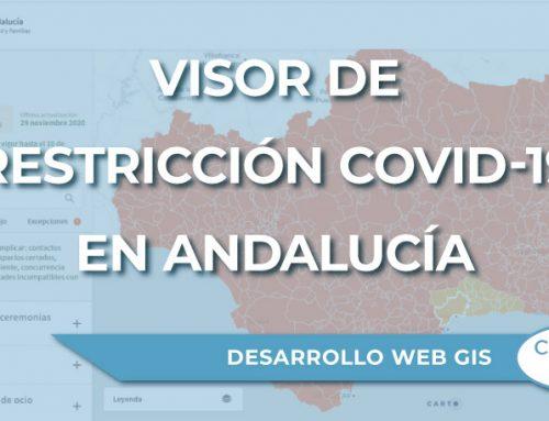 Visor de restricción COVID-19 de Andalucía – Anatomía de un Web GIS