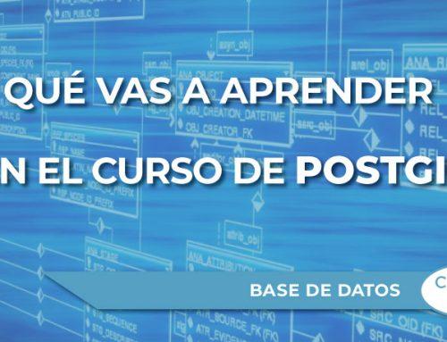 ¿Qué vas a aprender en el nuevo curso sobre Base de Datos PostGIS de TYC GIS?