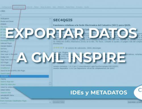 Exportación de datos de catastro a formato GML Inspire
