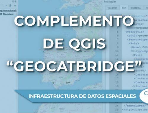 """El complemento de QGIS  """"GeoCatBridge"""" para trabajar en el entorno de las Infraestructuras de Datos Espaciales"""