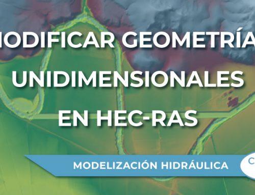 Modificar tu terreno con geometrías unidimensionales en Hec-Ras