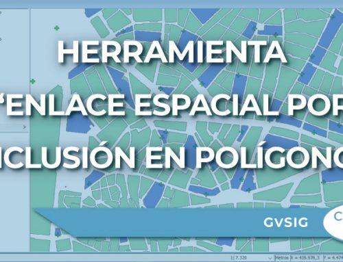 Enlace espacial por inclusión en polígono con GvSIG
