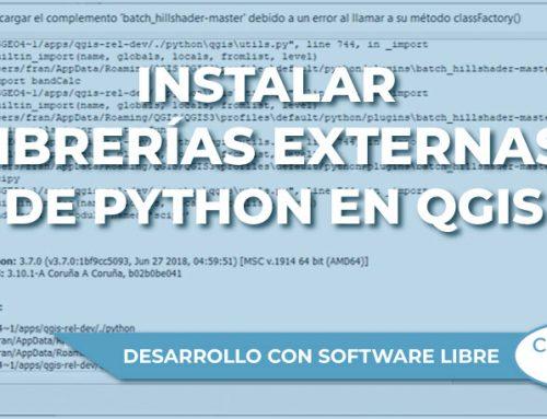 Instalar librerías externas de Python en QGIS