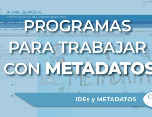 Tipos de programas para trabajar con metadatos