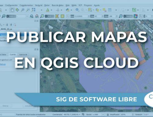 Cómo publicar mapas en la web con QGIS Cloud