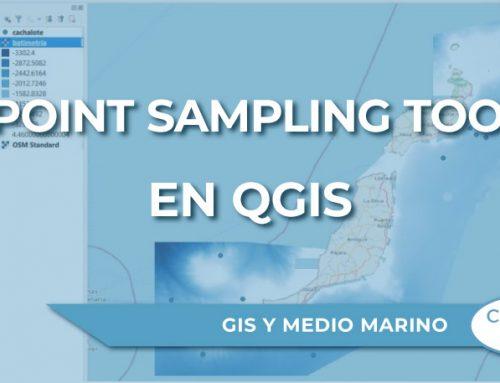 """¿Cómo trabaja el complemento """"Point Sampling Tool"""" en QGIS?"""