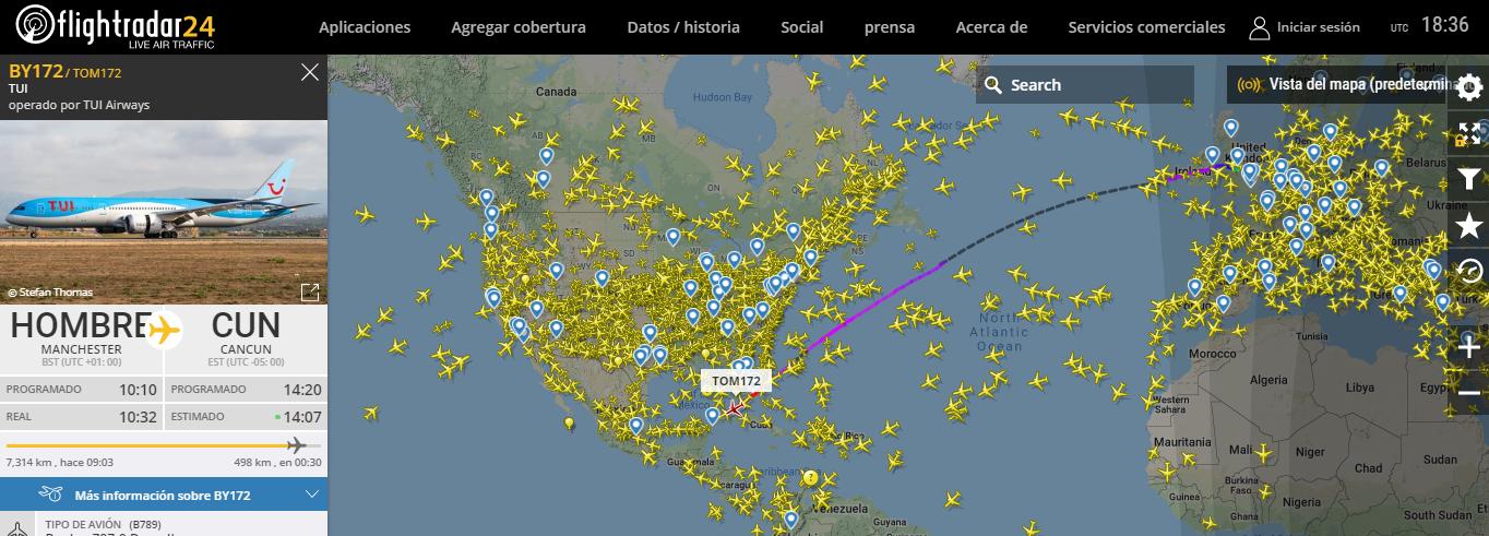 Mapa En Tiempo Real Del Tráfico Aéreo Cursos Gis Tyc Gis