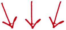 red-handdrawn-down-arrows